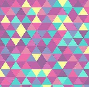 carta da parati triangoli modelli 60's