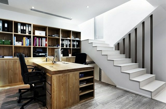 bureau bois a domicile