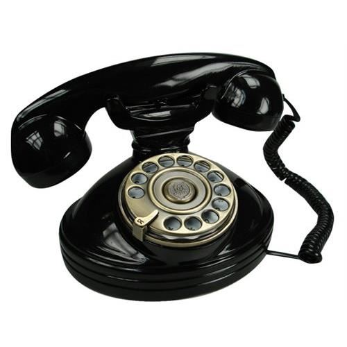 telefono nero retrò