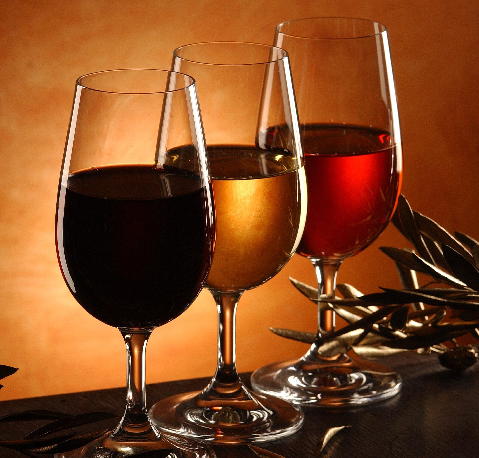 Verre vins rouge rosé blanc