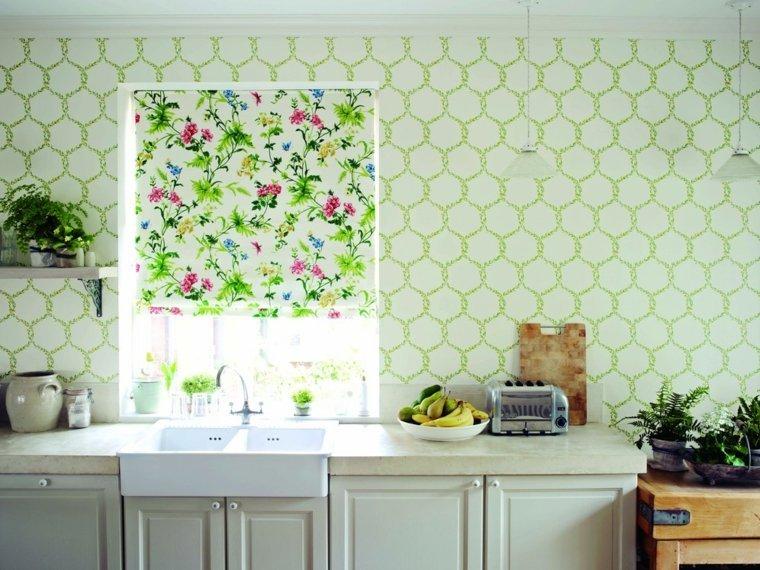 carta da parati cucina fiori