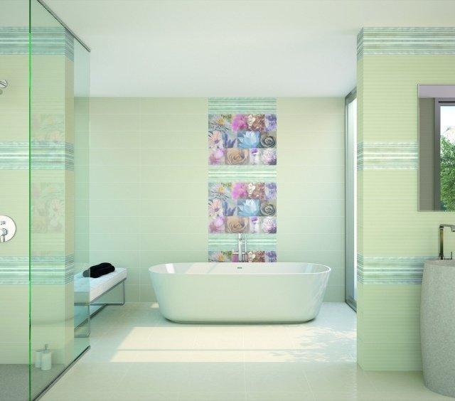 fiori da parete per il bagno