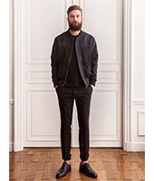 Bomber cuir homme