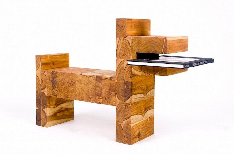 libreria di legno per cani