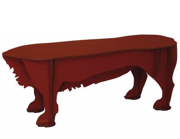 table basse pattes de chien